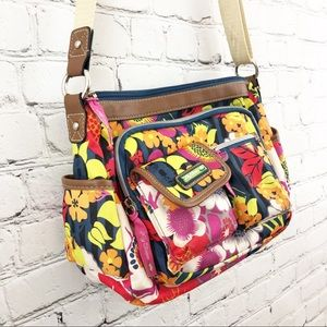 Lily Bloom crossbody bag purse floral